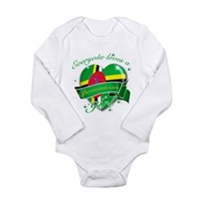 I heart Dominican Designs Long Sleeve Infant Bodys