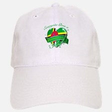 I heart Dominican Designs Baseball Baseball Cap