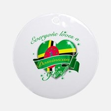 I heart Dominican Designs Ornament (Round)