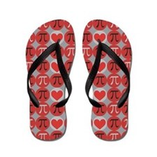 Love Pi Flip Flops