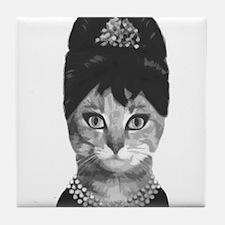 DIVA CAT Tile Coaster