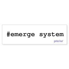 emerge system Bumper Bumper Sticker