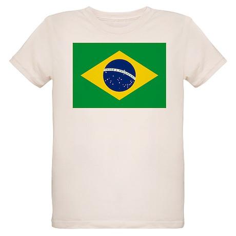 Brazil Flag Organic Kids T-Shirt