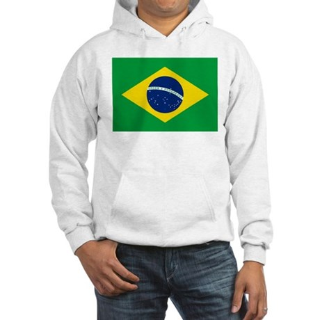 Brazil Flag Hooded Sweatshirt