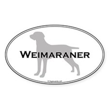 Weimaraner Oval Decal