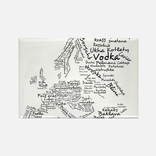 European Food Map Rectangle Magnet (10 pack)