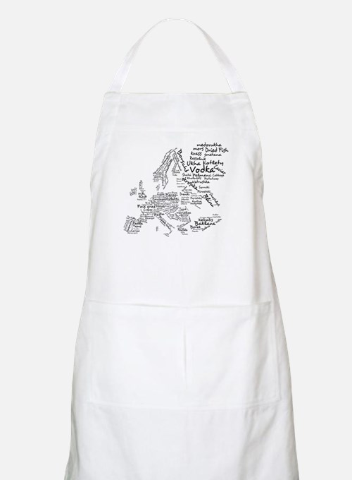 European Food Map Apron