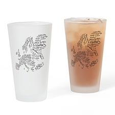 European Food Map Drinking Glass