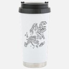 European Food Map Stainless Steel Travel Mug
