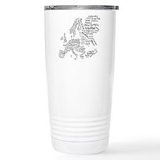 European Food Map Travel Mug