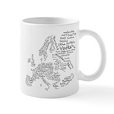 European Food Map Mug