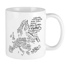 European Food Map Small Mug