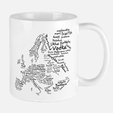 European Food Map Small Small Mug