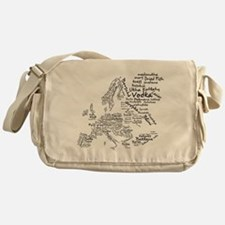 European Food Map Messenger Bag