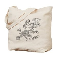 European Food Map Tote Bag