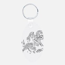 European Food Map Keychains