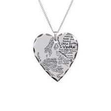 European Food Map Necklace