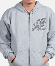European Food Map Zip Hoodie