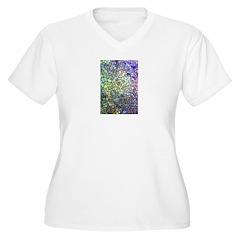 Purple and Yellow Mosaic Patt T-Shirt