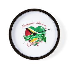 I heart Guyanese Designs Wall Clock