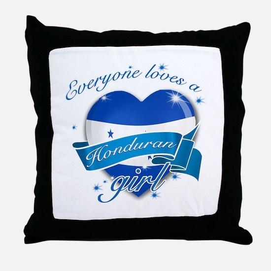 I heart Honduran Designs Throw Pillow