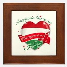 I heart Hungarian Designs Framed Tile