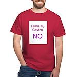 Cuba si, Castro NO. Black T-Shirt