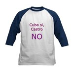 Cuba si, Castro NO. Kids Baseball Jersey