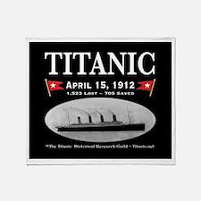 Titanic Ghost Ship (black) Throw Blanket