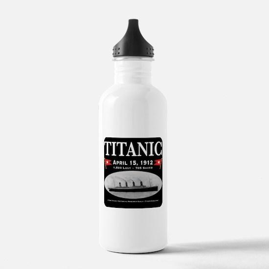Titanic Ghost Ship (black) Water Bottle