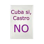 Cuba si, Castro NO. Rectangle Magnet (100 pack)