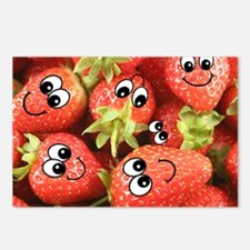 Cute Happy Strawberries Postcards (Package of 8)