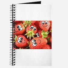 Cute Happy Strawberries Journal