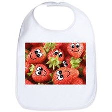 Cute Happy Strawberries Bib