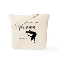My granddaughter get down male dancer Tote Bag