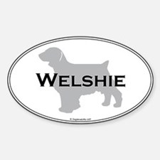 Welshie Oval Decal