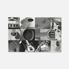 Stylish Guitar Photo Collage Rectangle Magnet