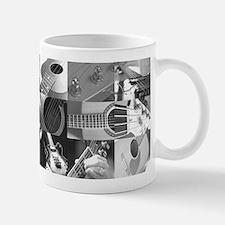 Stylish Guitar Photo Collage Mug