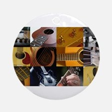 Guitar Photography Collage Ornament (Round)