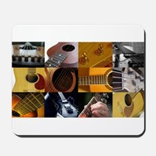 Guitar Photography Collage Mousepad