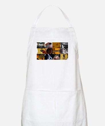 Guitar Photography Collage Apron