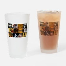 Guitar Photography Collage Drinking Glass
