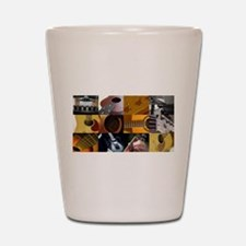 Guitar Photography Collage Shot Glass