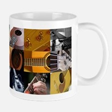 Guitar Photography Collage Mug