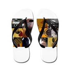 Guitar Photography Collage Flip Flops