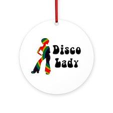Disco Lady Retro Ornament (Round)