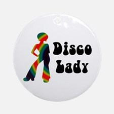 Disco Lady Retro Ornament (Round)