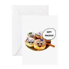 Happy Hanukkah Donuts Greeting Card