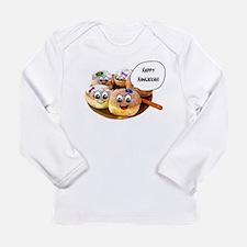 Happy Hanukkah Donuts Long Sleeve Infant T-Shirt