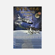 STS 114 Shuttle Mission Poster Rectangle Magnet